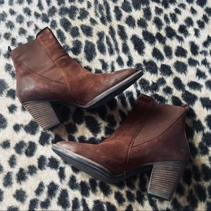 Paul Green Jules Cigar leather ankle booties